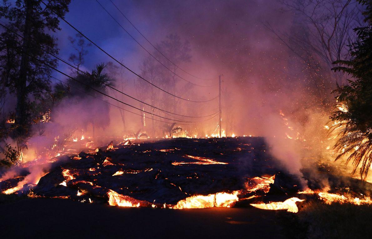 Em 2018, o vulcão Kilauea, no Havai, encerrou mais de 30 anos de erupções quase contínuas ...