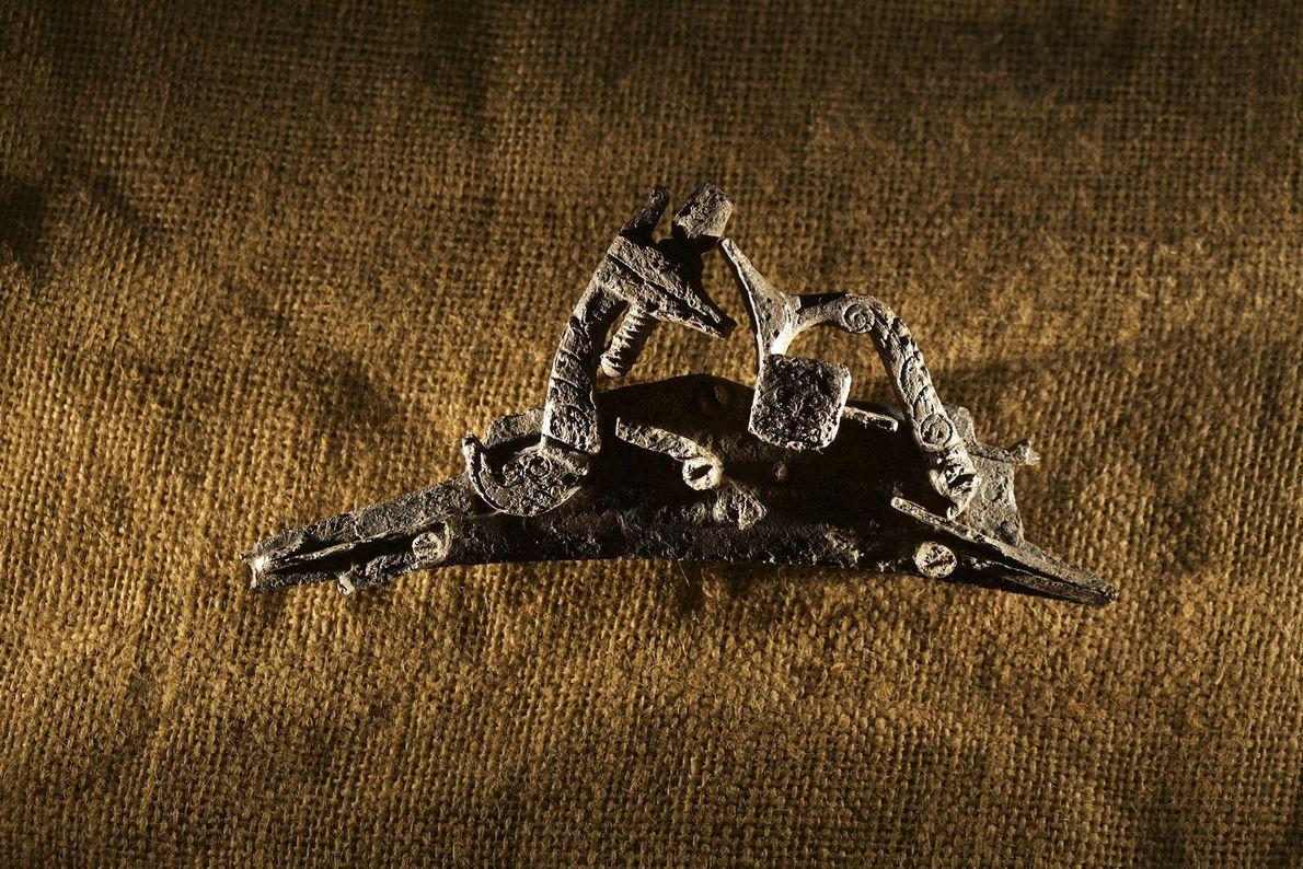 Fotografia de uma culatra de metal do tipo Snaphaunce