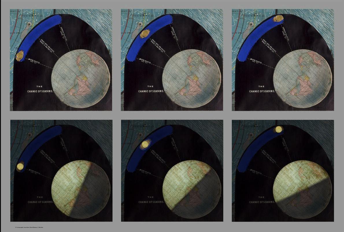 Este diagrama inclui uma corrediça para mostrar as posições relativas do Sol e da Terra em ...