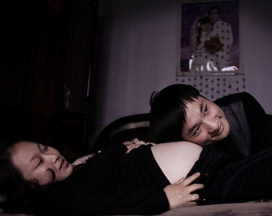Zhang Qiaoliang morreu de cancro na garganta um mês depois desta fotografia ter sido tirada.