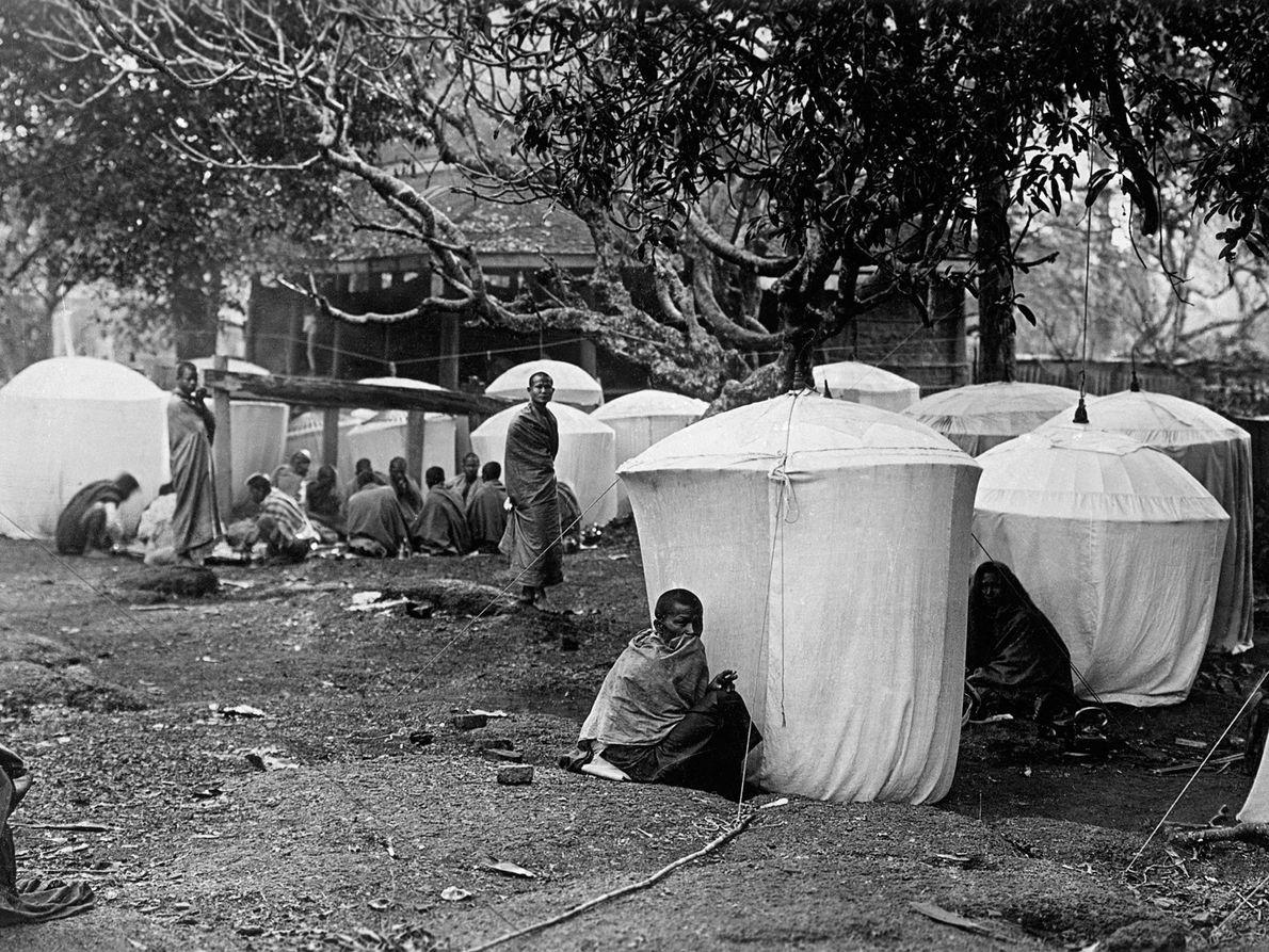 Um acampamento itenerante