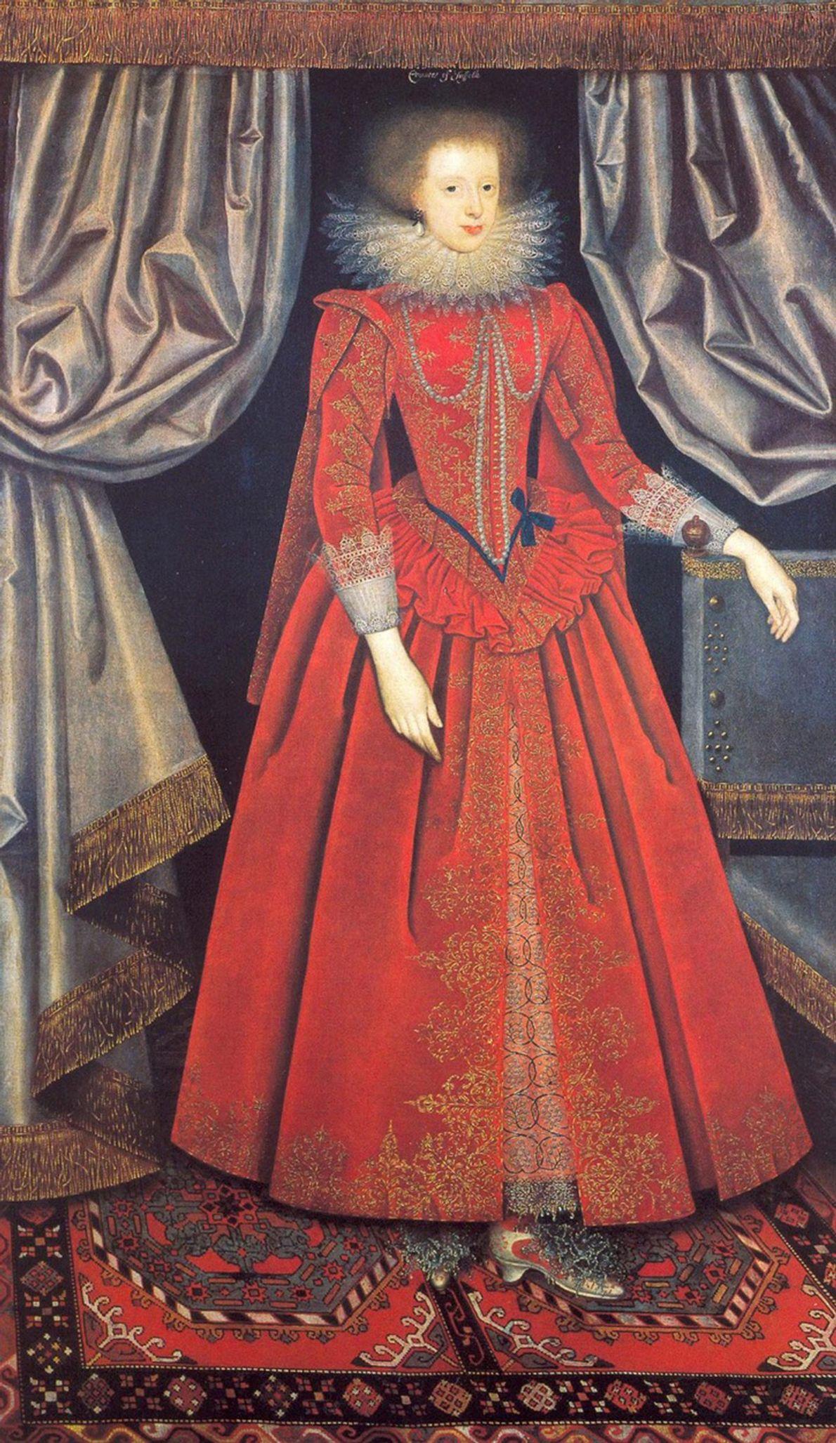 Fotografia de um quadro de Catherine Knevet, Condesa de Suffolk
