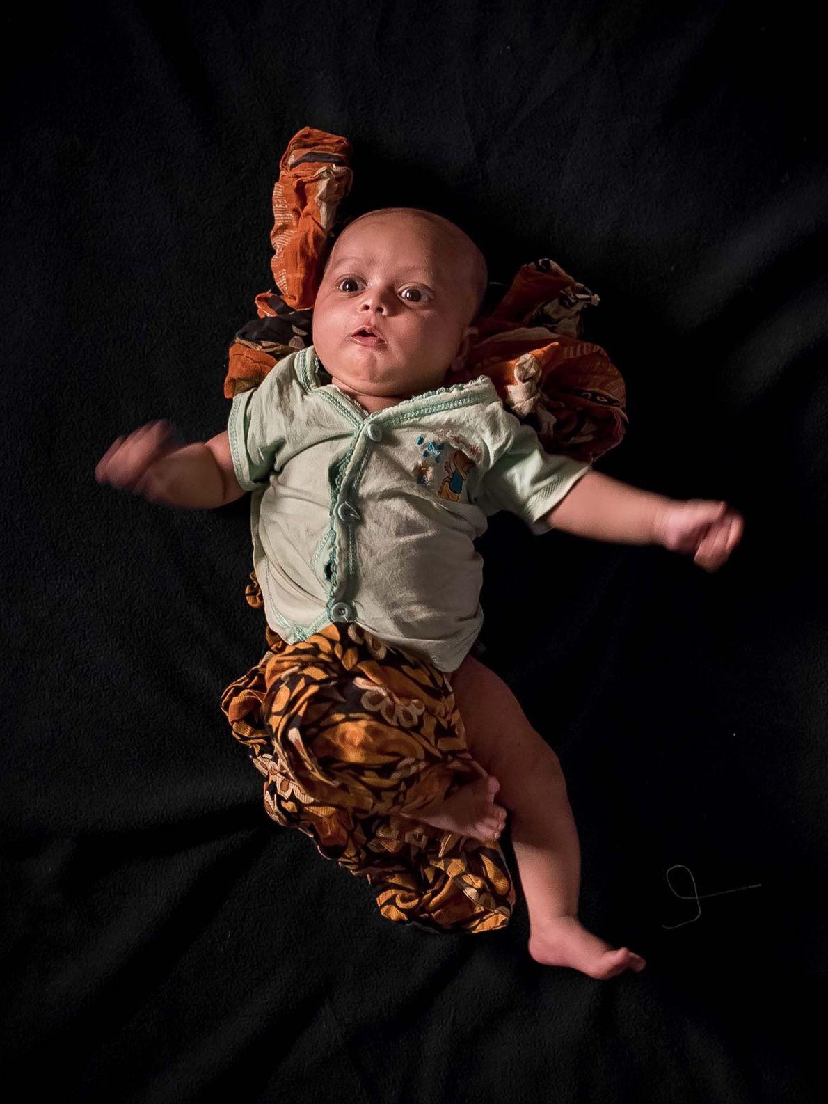 Yasir, um mês de idade.