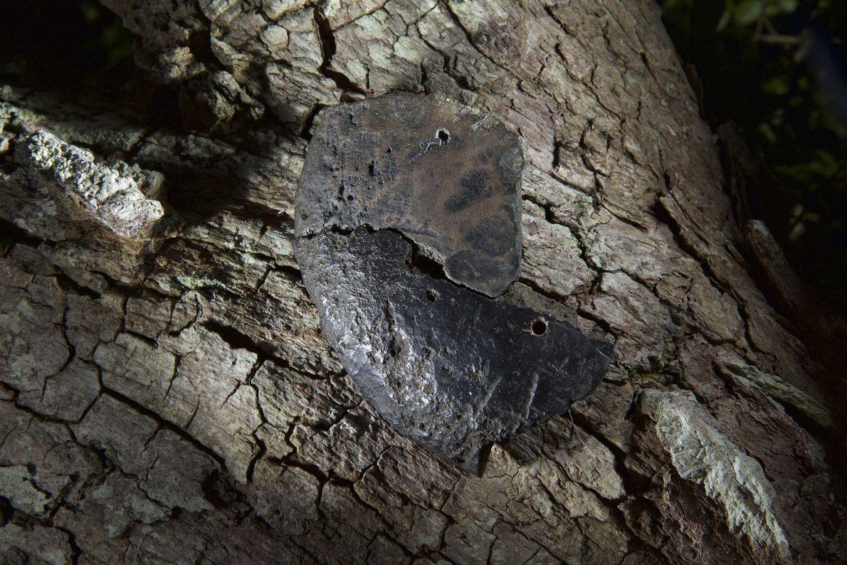 Fotografia de um lingote de cobre puro