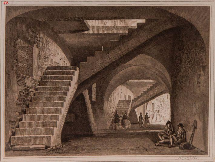 um esboço do interior do Coliseu
