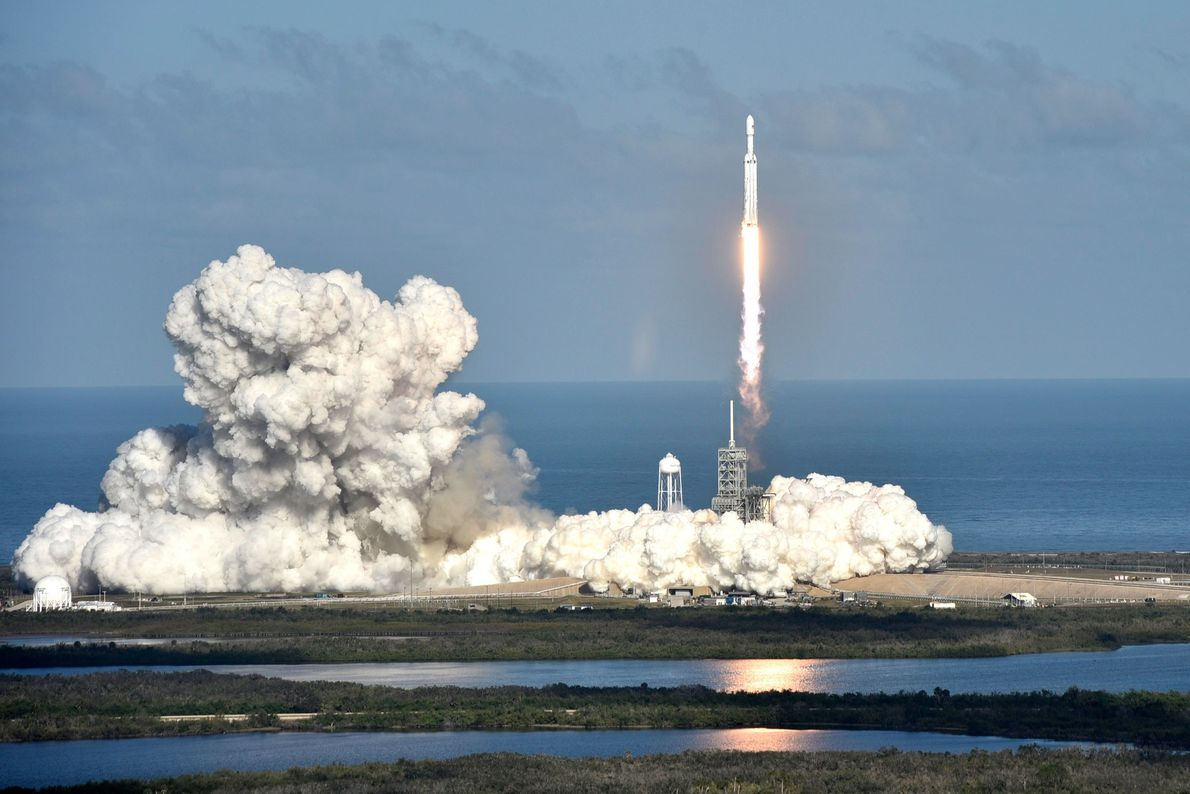 Lançamento do Falcon Heavy da SpaceX