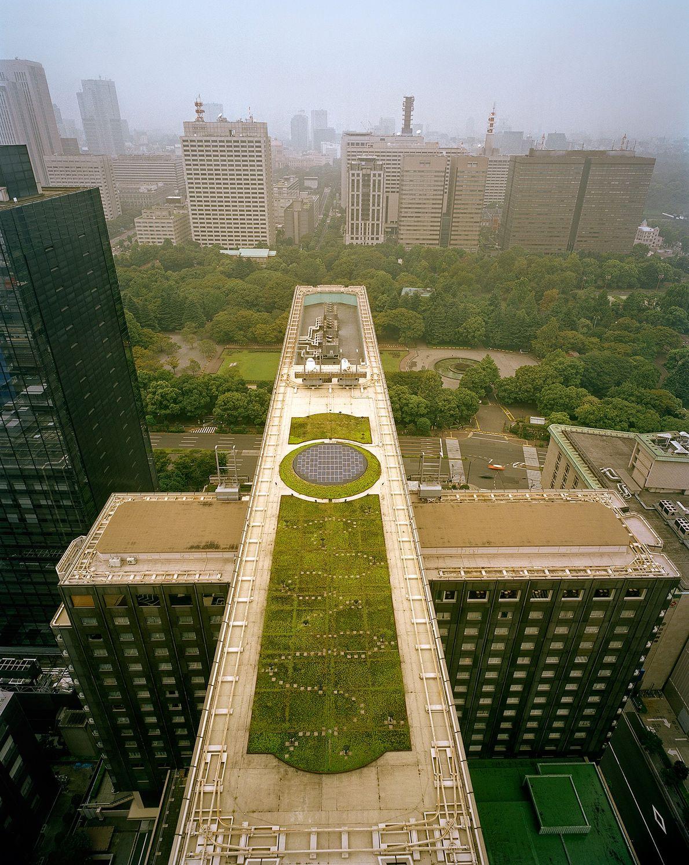 Hotel Imperial em Tóquio, visto de cima