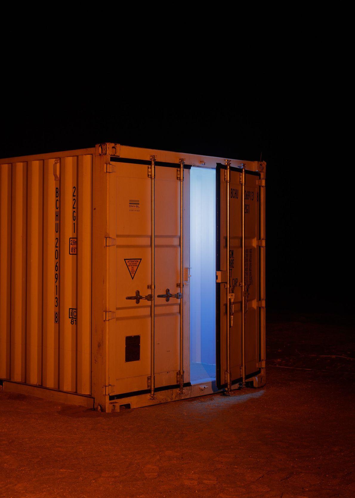 Contentores de armazenamento da AMADEE-18