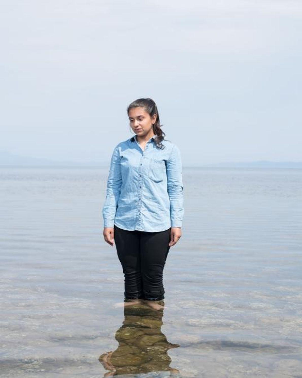 Mariam Hamdan, de 15 anos.