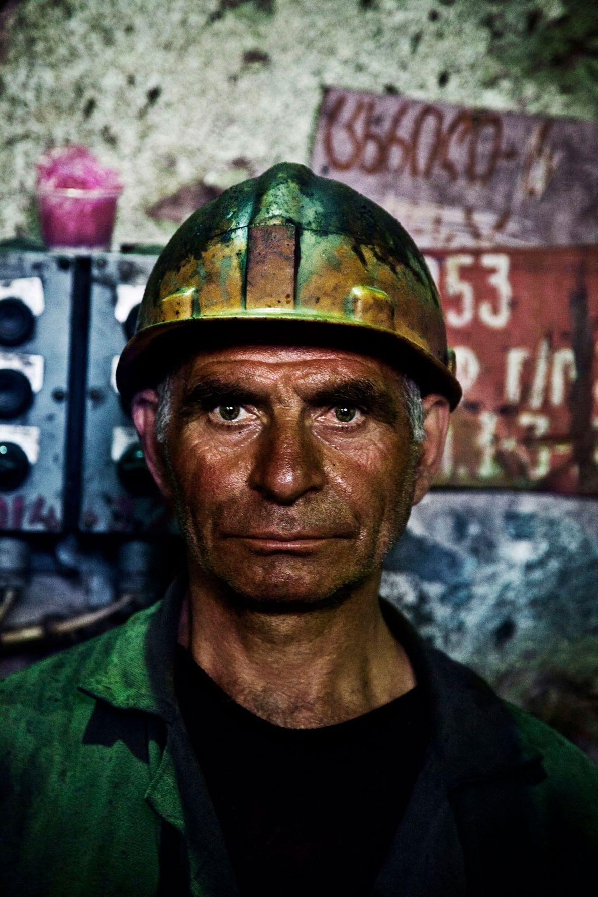 Zura trabalha nas minas em Chiatura há 18 anos