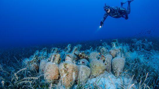 No novo museu subaquático da Grécia, que tem a sua inauguração oficial agendada para junho de ...