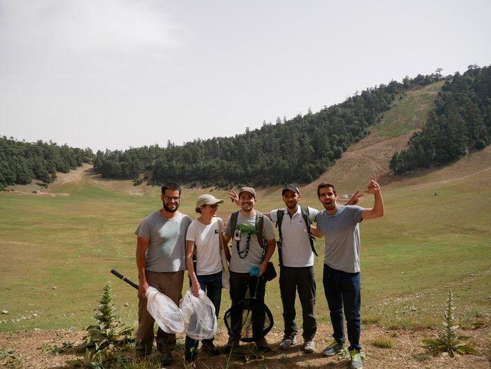 A equipa do projecto em Marrocos. Da esquerda para a direita: Gonçalo J. Costa, Vera L. ...