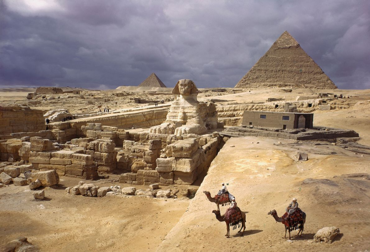 As Pirâmides de Gizé e a Grande Esfinge