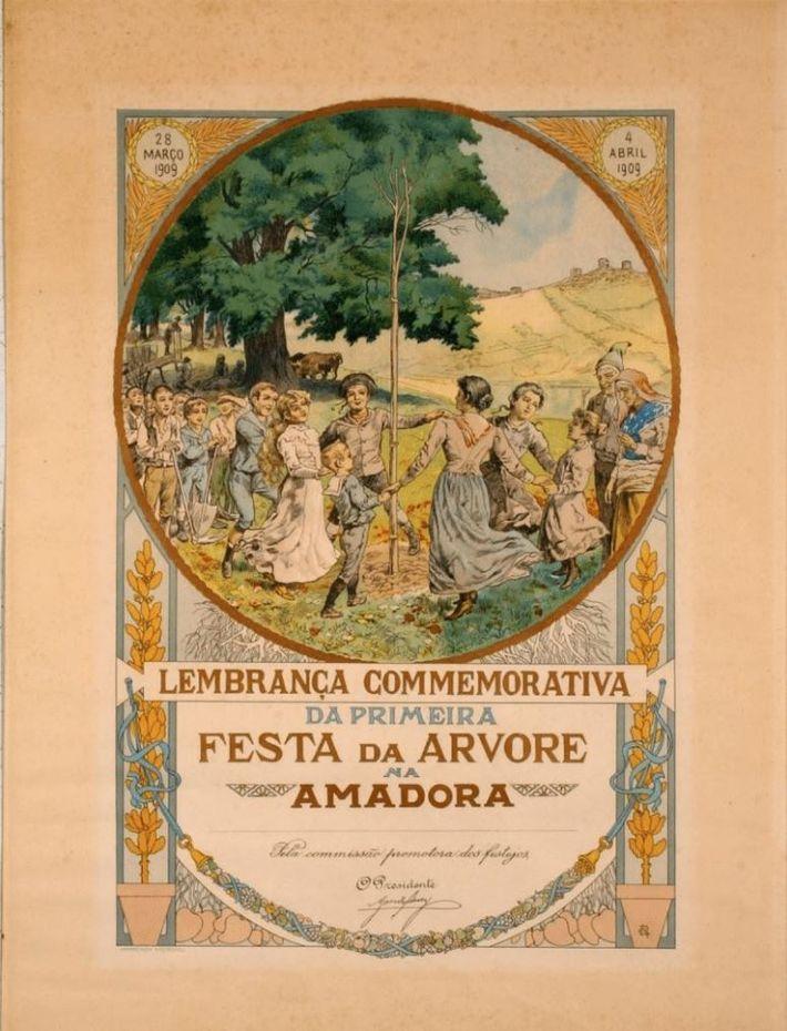 Lembrança Comemorativa da 1.ª Festa da Árvore na Amadora