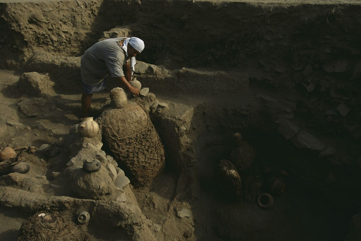 Conjunto de múmias incas