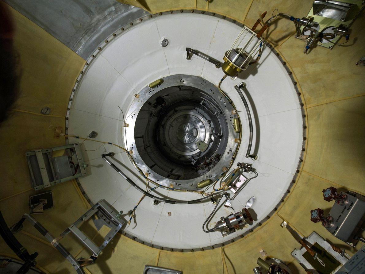 Fotografia de uma nave espacial Russa