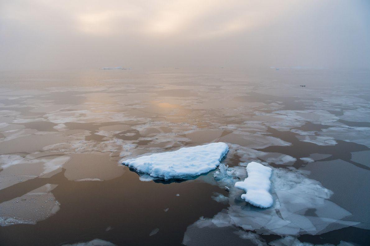 O sol nasce no Ártico