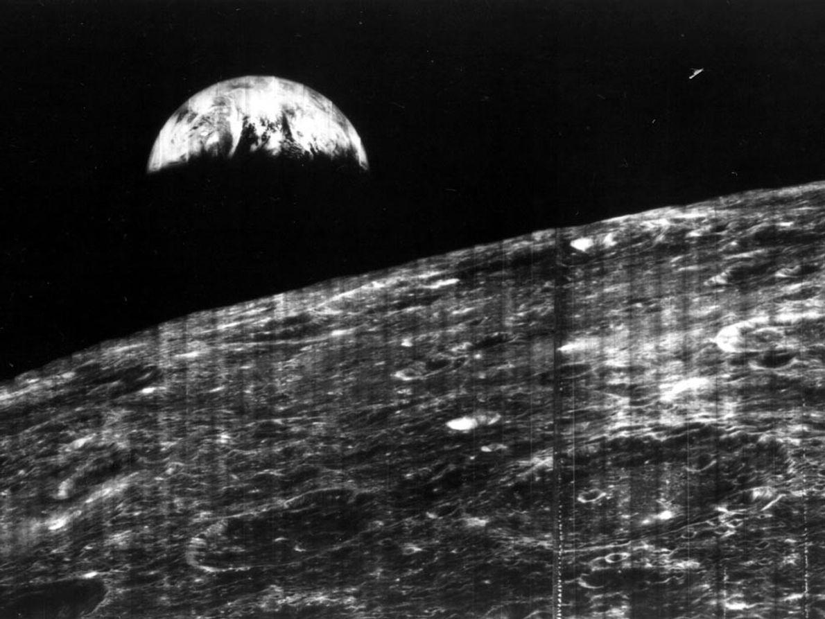 Imagem da Terra vista da Lua
