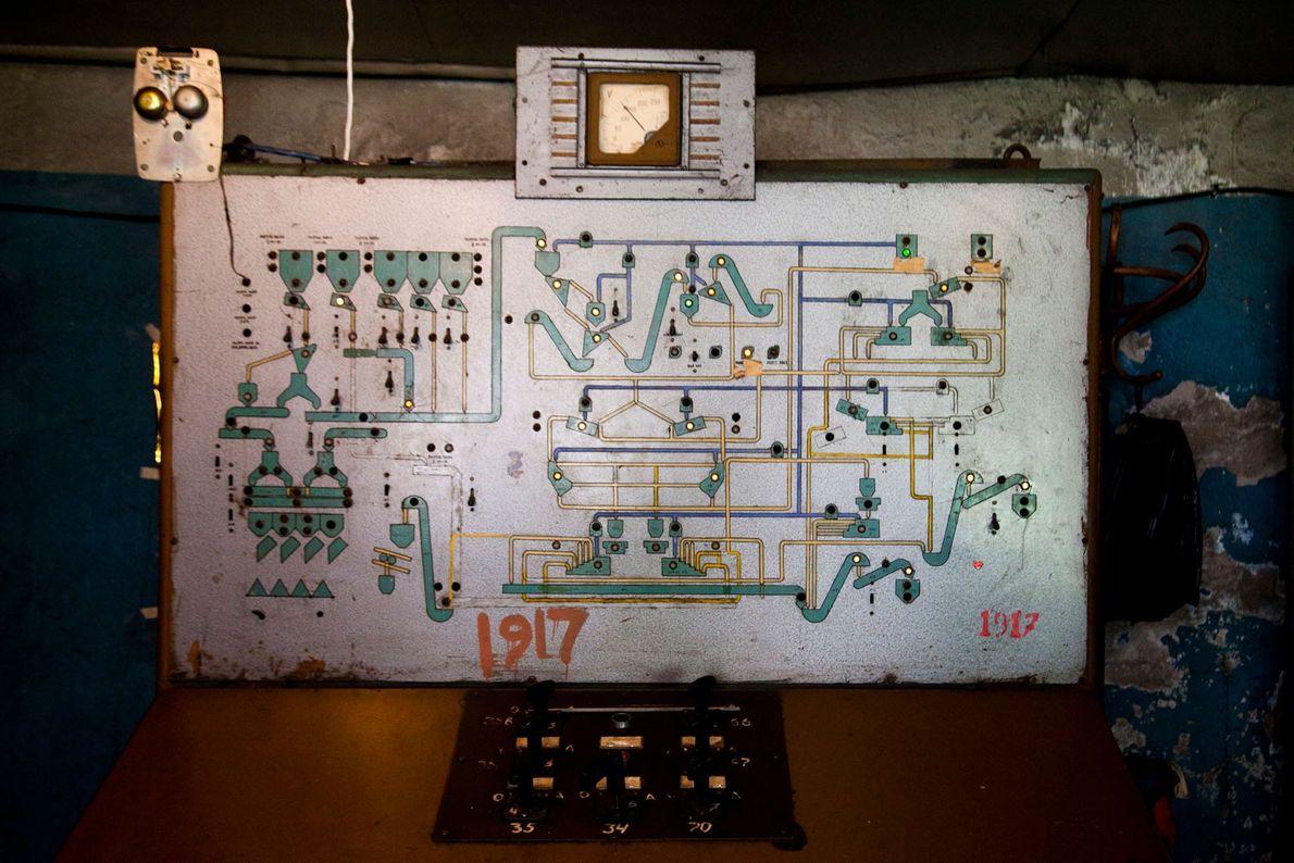 Maquinaria usada nas minas