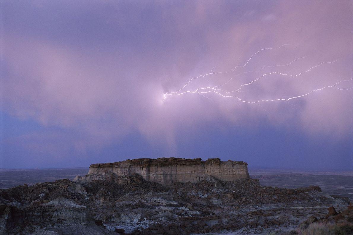 Um raio no Deserto Vermelho, Wyoming
