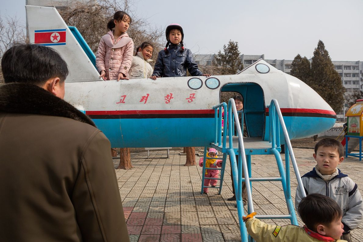 Avião no recreio