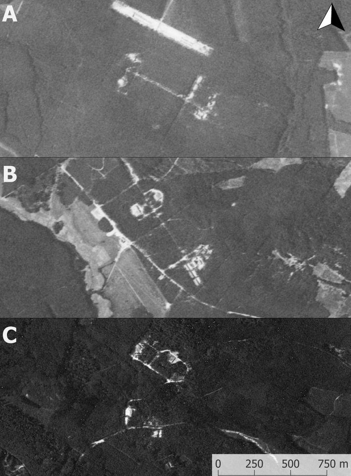 Imagens de um satélite espião dos EUA