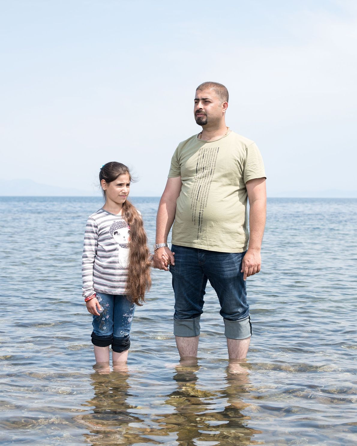 Marwan Jihad e a família, incluindo a sua filha de 11 anos Sama, fugiram do Iraque.