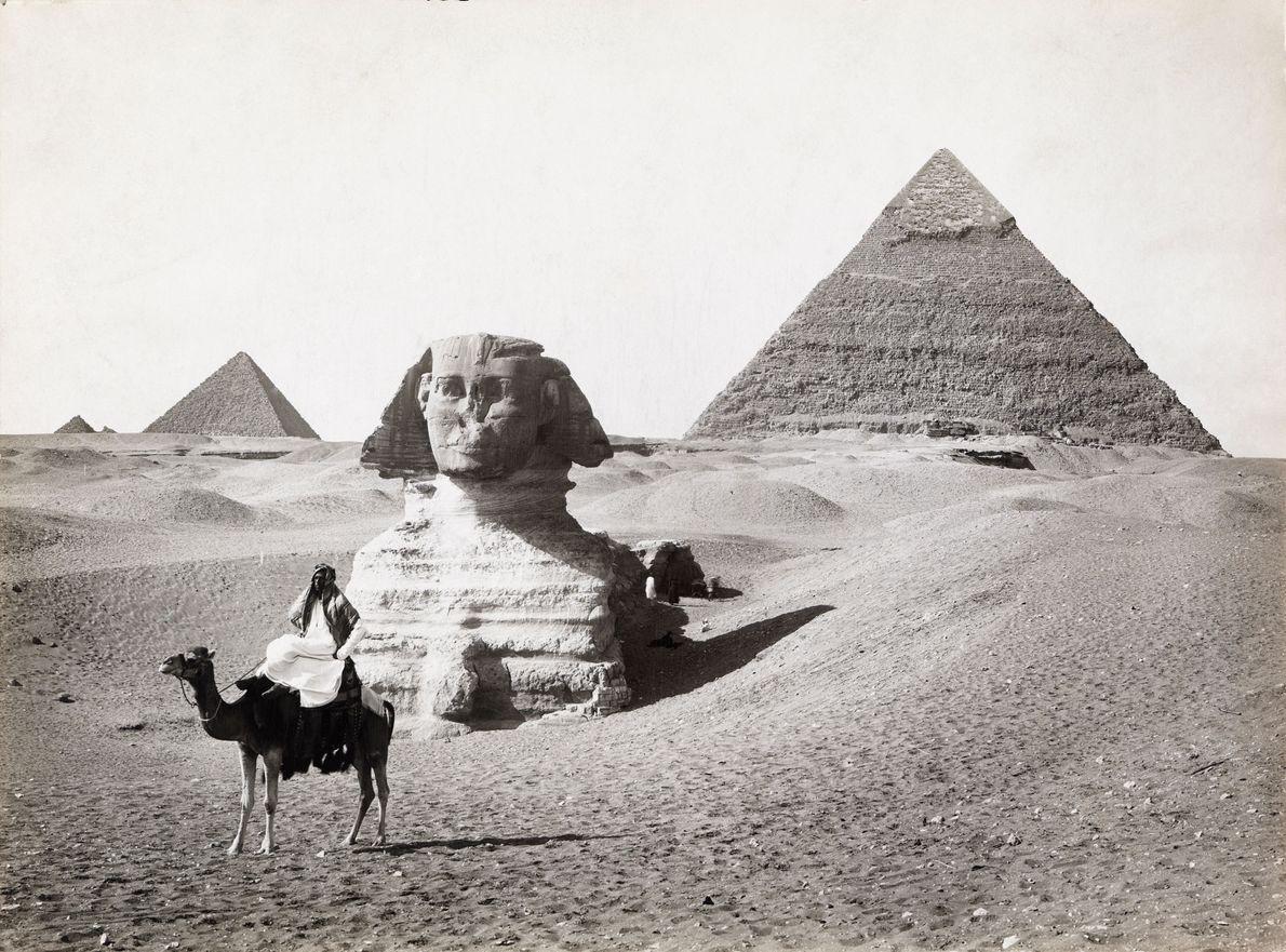 Grande Esfinge e pirâmides de Gizé, 1913