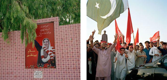 memorial a Benazir Bhutto e membros do partido nacional awami