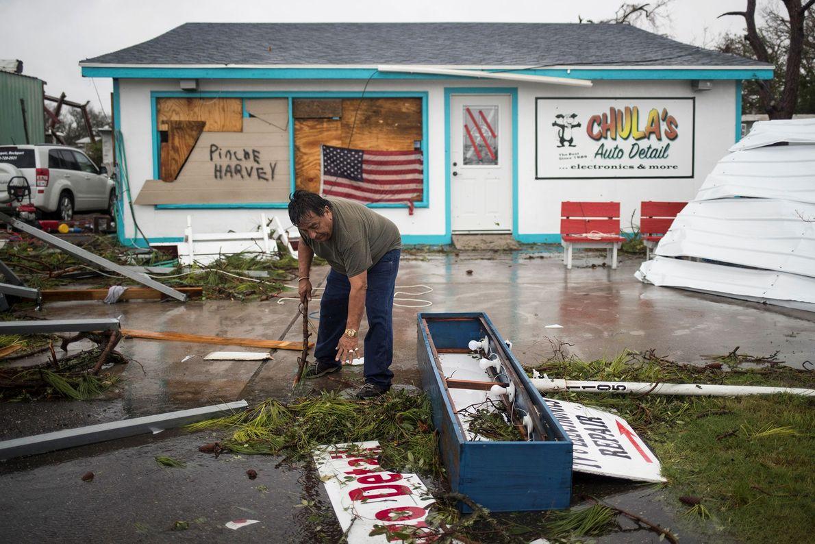 Destruição do Furacão Harvey