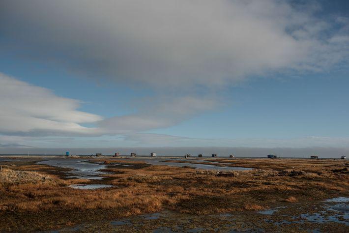 Lavrentiya, 1500 habitantes, fica na costa do Estreito de Bering.