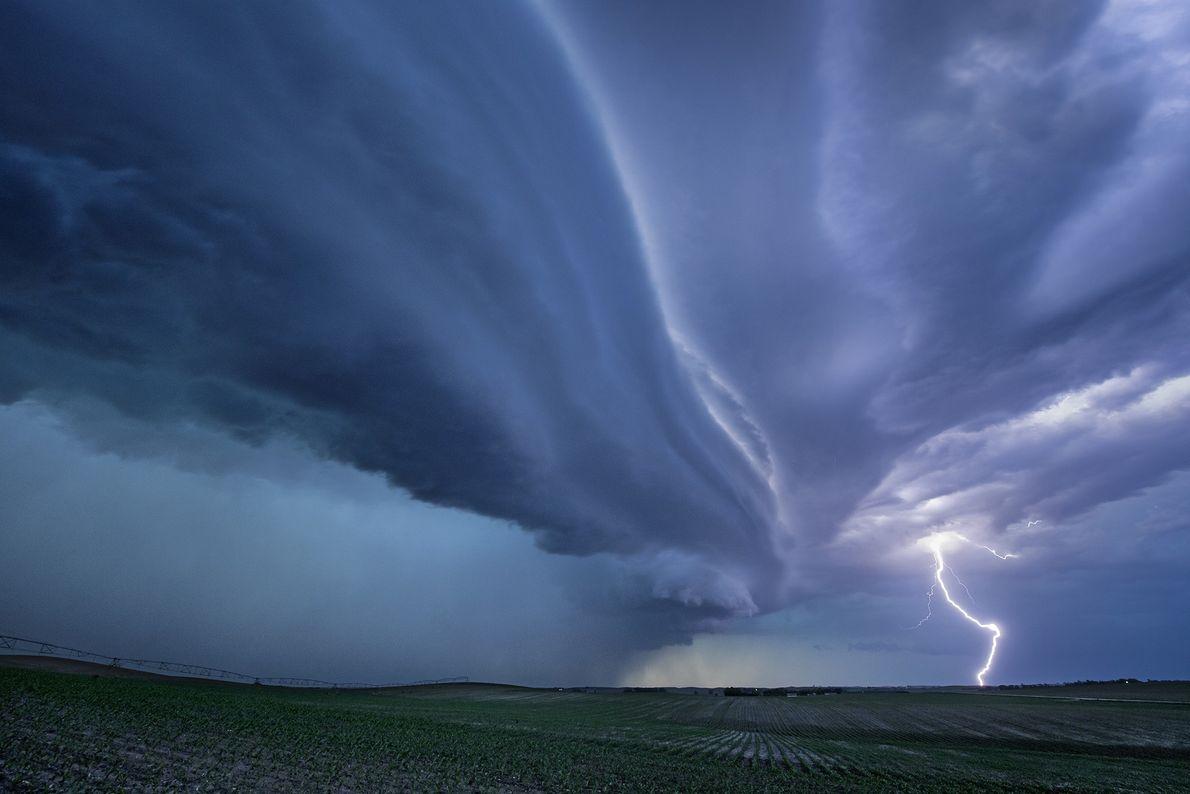 Uma tempestade de supercélula