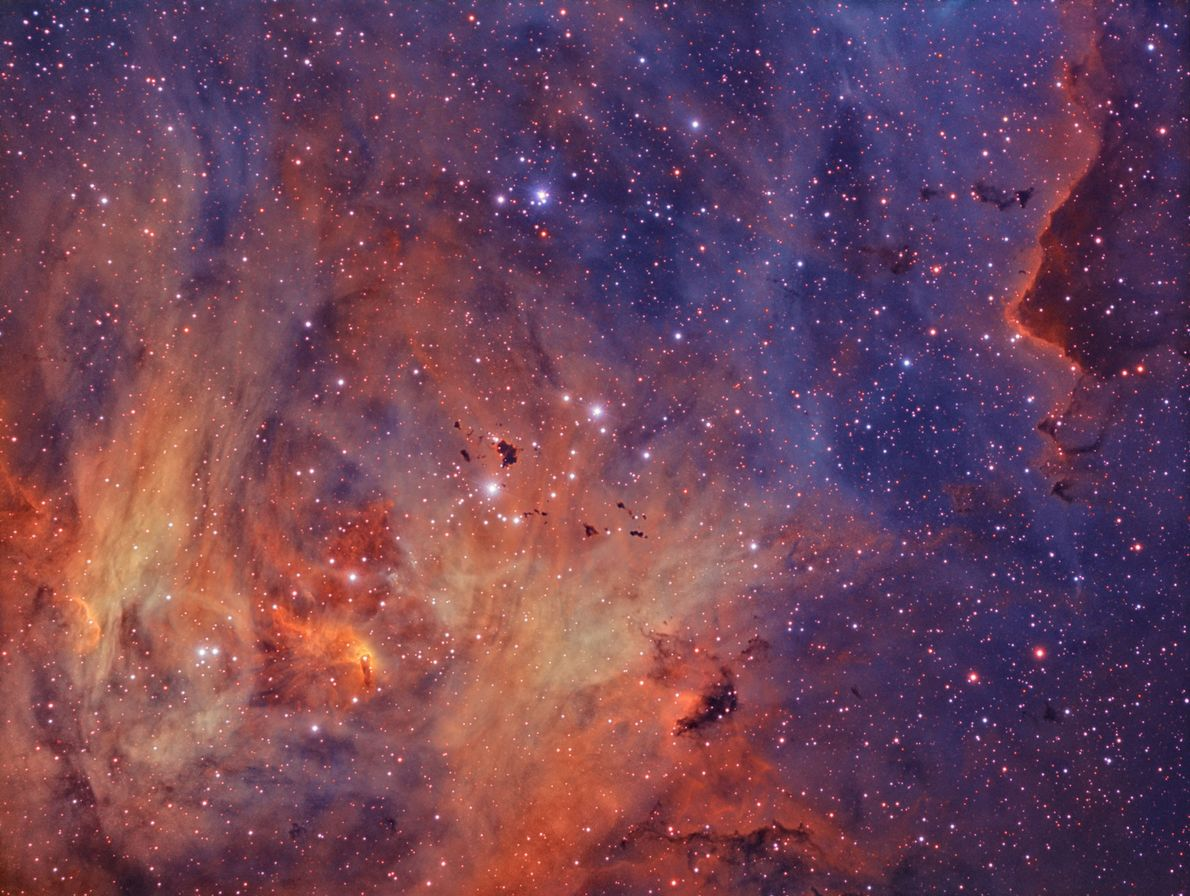 Um retrato da nebulosa Lambda Centauri.