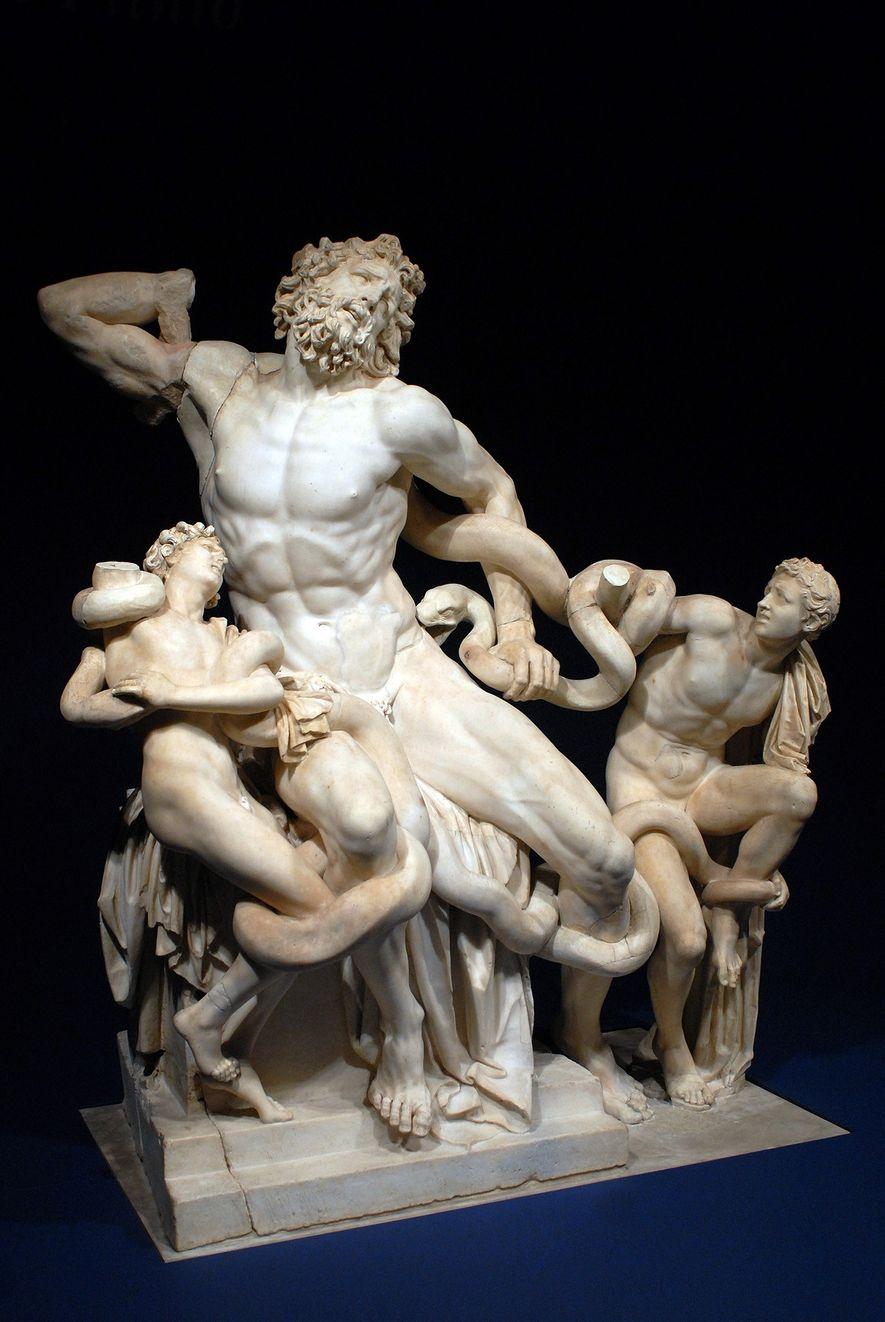 """CRAVADO NO MÁRMORE O rascunho parece uma das caras da estátua """"Laocoön and His Sons"""", uma obra de arte antiga que serviu de inspiração a Miguelângelo."""