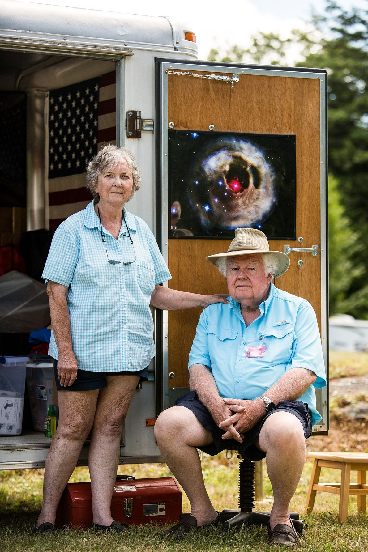 Dee e Roy Diffrient, oriundos de Monkton, Maryland, comemoraram 25 anos de presença no festival Stellafane.