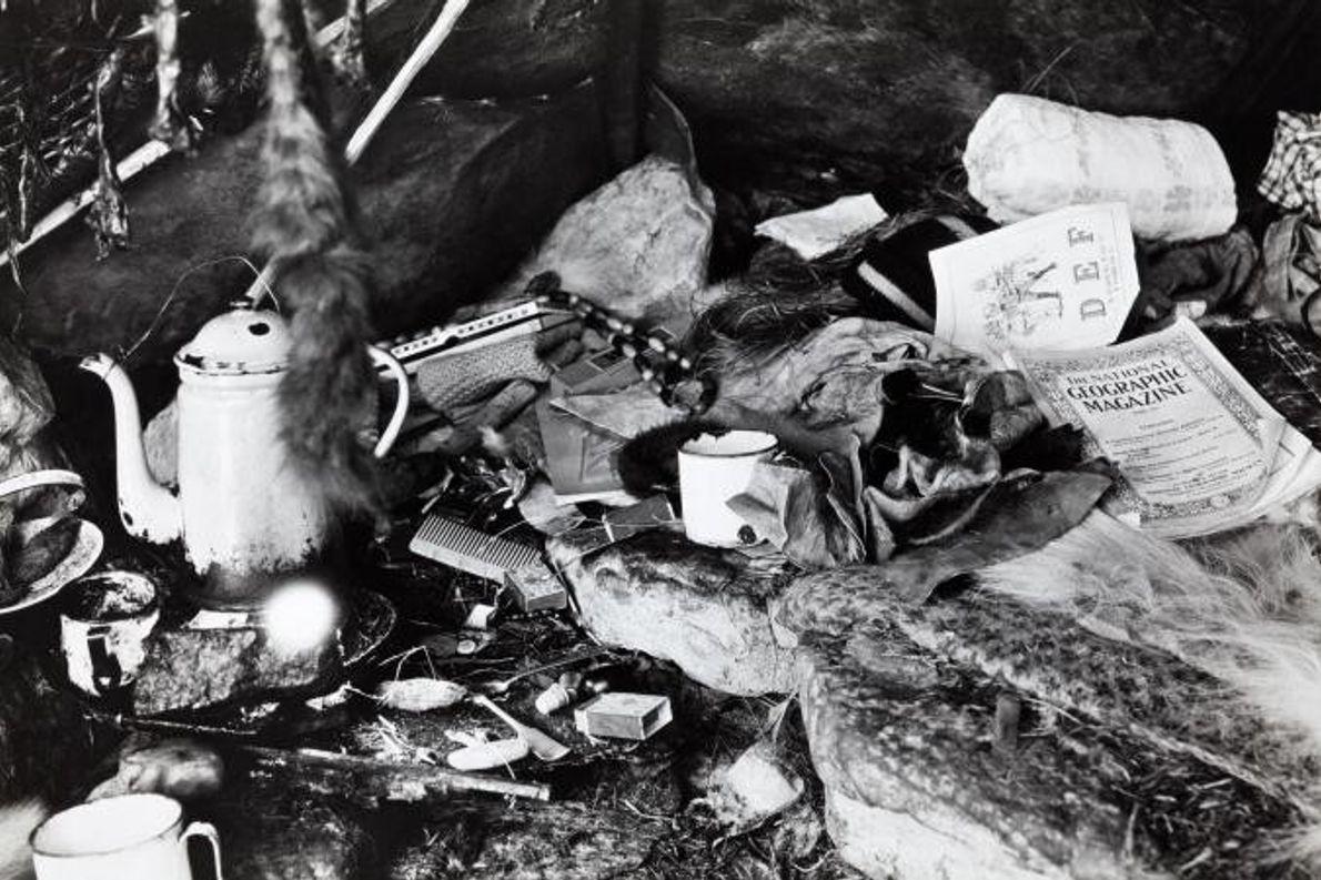 Estes pertences foram encontrados no interior da tenda ou tupik de um esquimó.