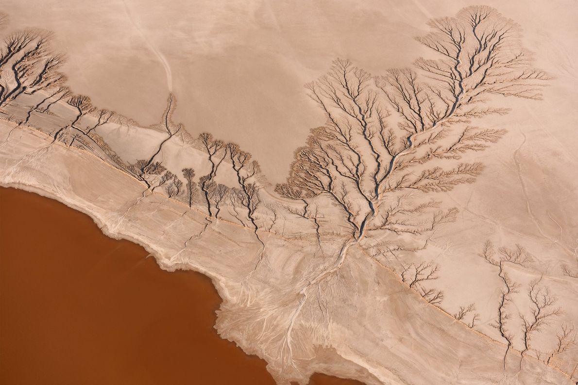 Vista aérea do Deserto de Mojave