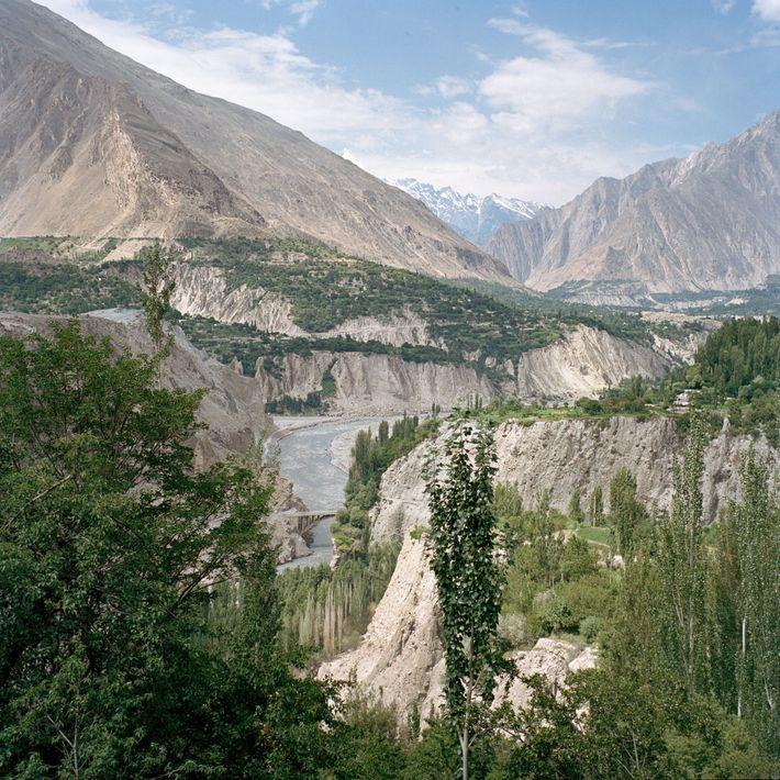 O vale de Hunza, no norte do Paquistão.