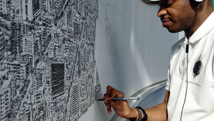 Artista desenha cidade inteira através da sua memória