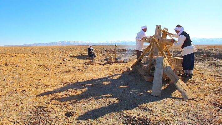 Um Antigo Sistema de Águas Debaixo do Deserto do Irão