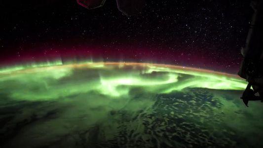 Uma Aurora Boreal Vista em Time-Lapse Desde a Estaçao Espacial Internacional.