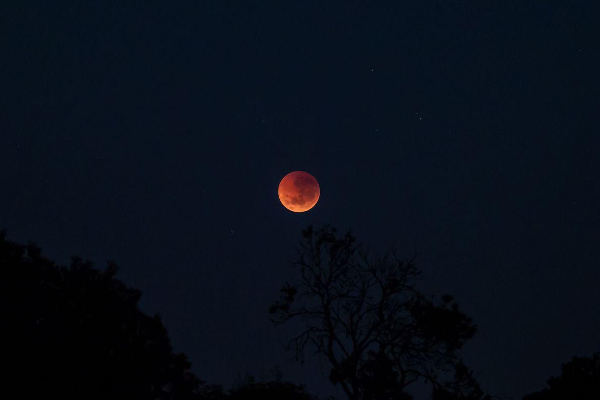 O eclipse lunar visto da Austrália