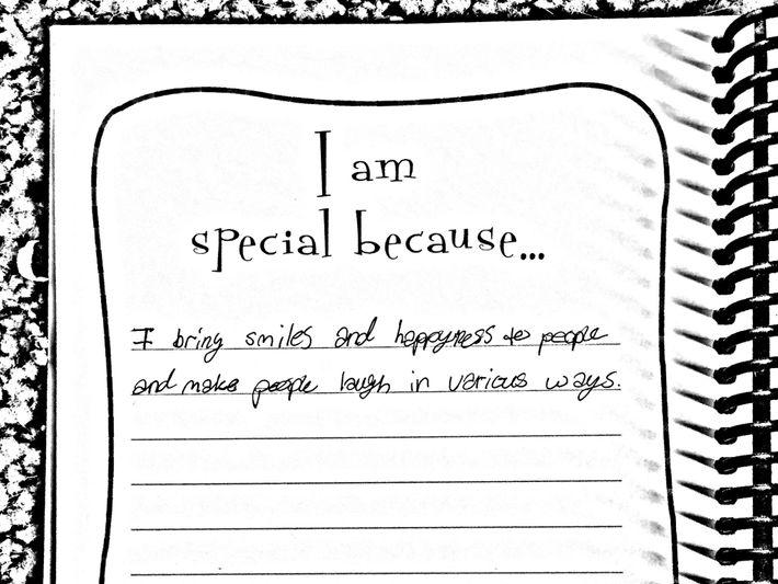 Uma nota pessoal escrita por Lola.
