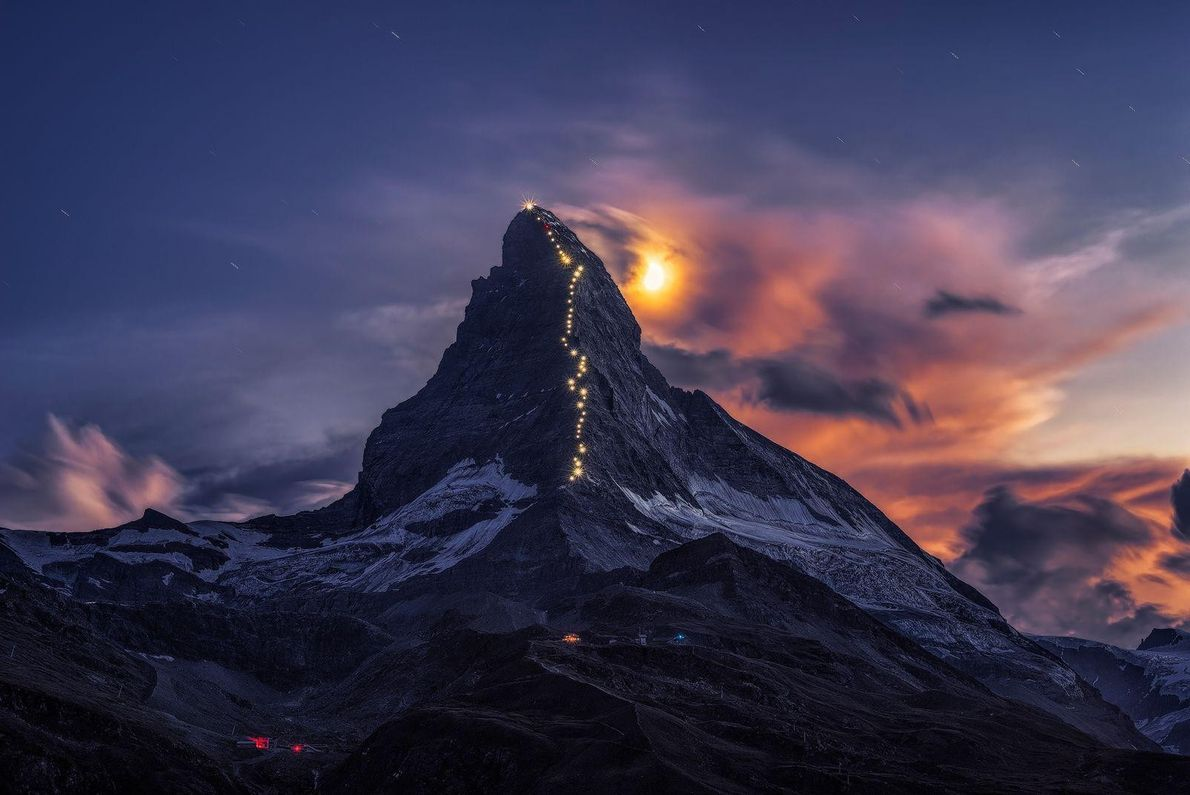 Trilho das estrelas do Monte Cervino