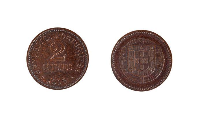 Moeda de 2 centavos de 1918