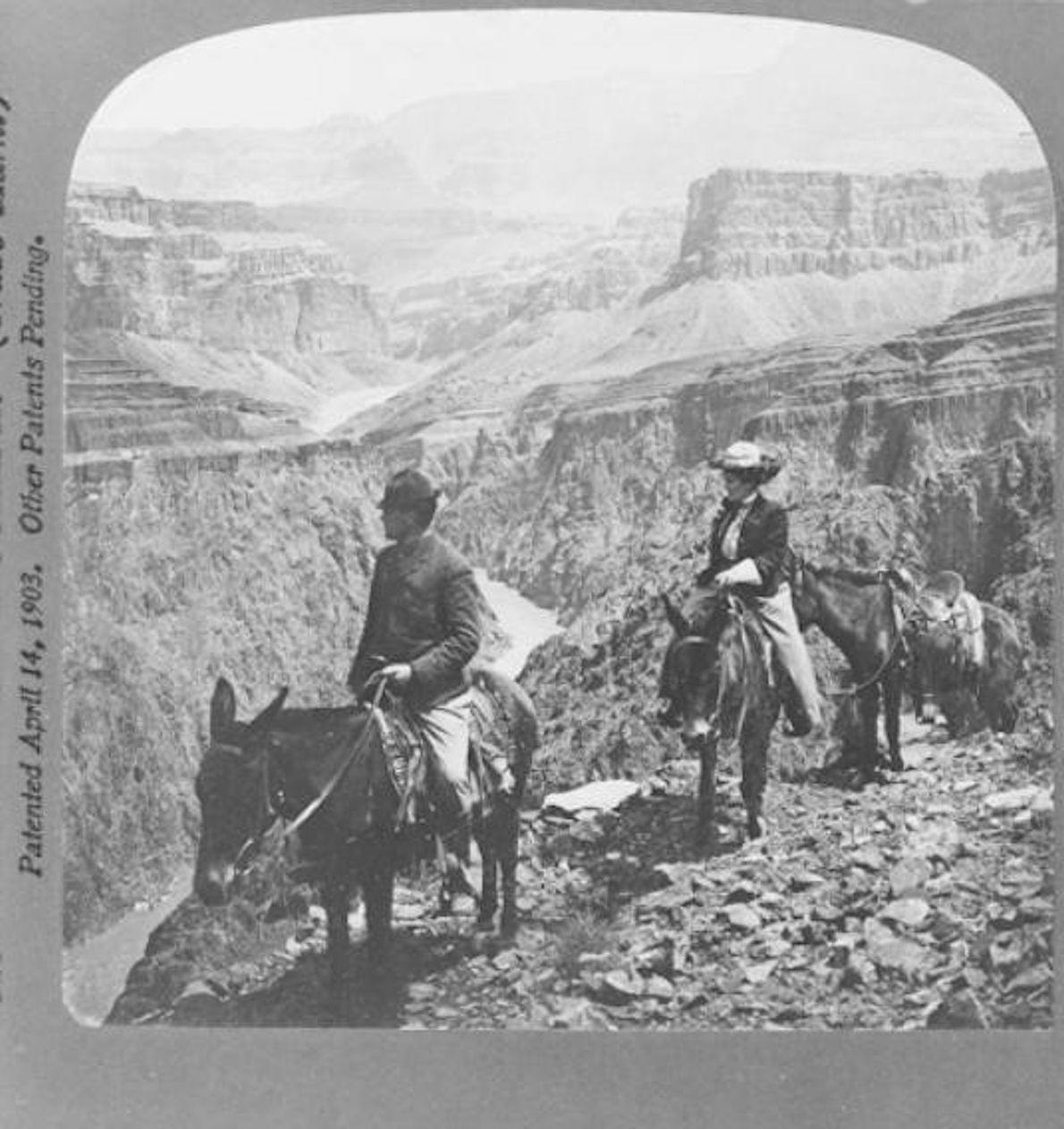 PASSEAR EM MULAS, GRAND CANYON, POR VOLTA DE 1906