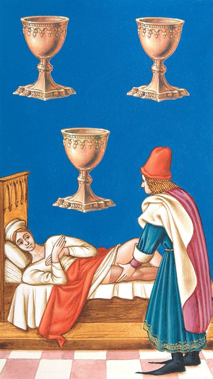 Medicina medieval: carta de tarot