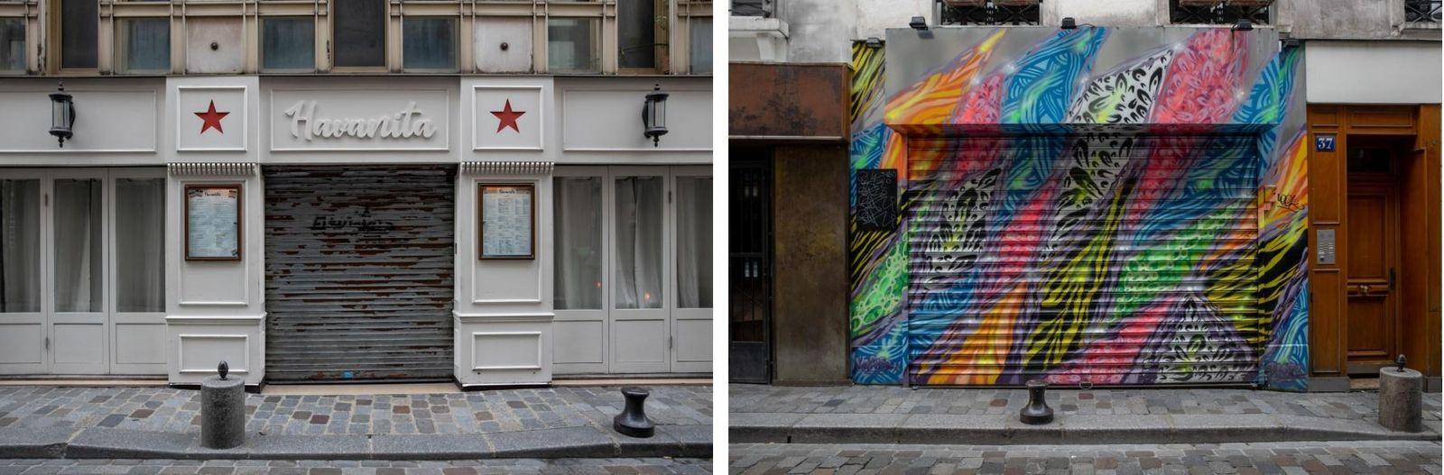 Os bares, restaurantes e discotecas estão silenciosos na famosa Rue de Lappe, um dos locais mais ...
