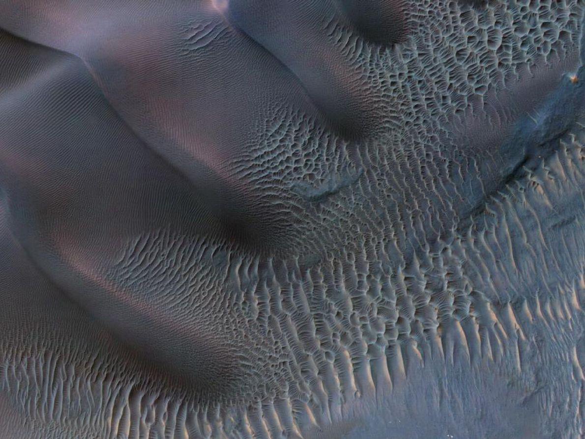 Dunas de areia em Marte.