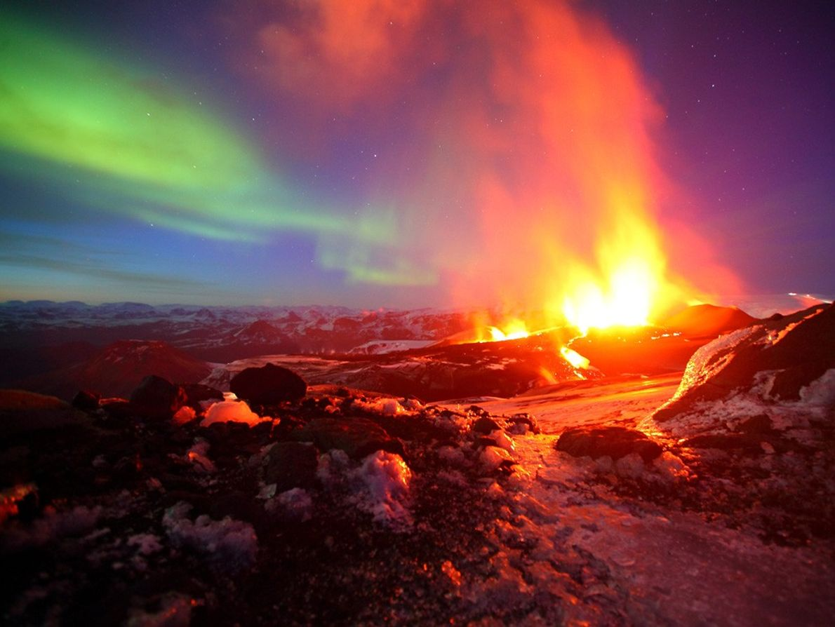 Luzes do Norte, na Islândia.